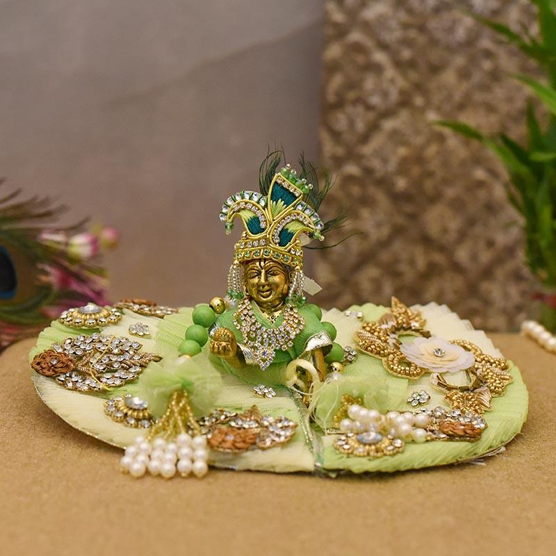 Attractive Green  Krishna Poshak