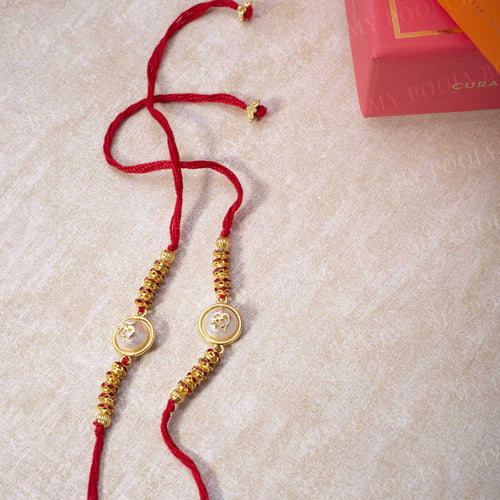 """Om"" Opalescent Rakhi (Set of 2)"