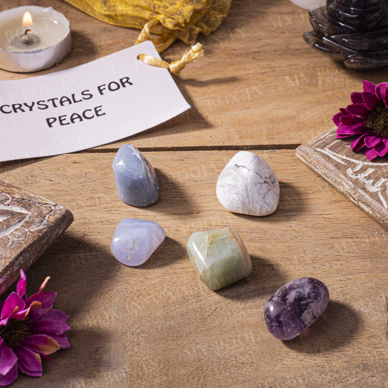 Peace Crystal Healing Tumble Stone Set