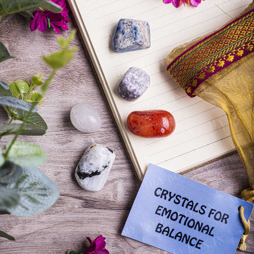 Emotional Balance Crystal Healing Tumble Stone Set