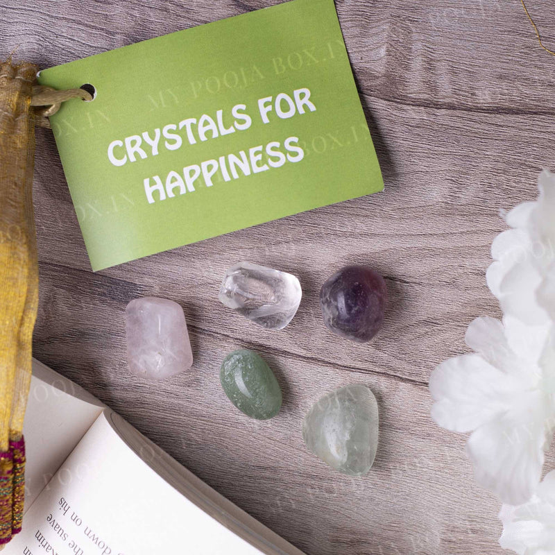 Happiness Crystal Healing Tumble Stone Set