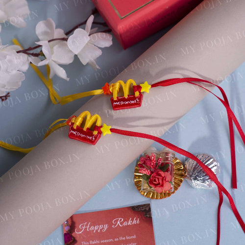 Foodie Brother Quirky Rakhi (Set of 2)