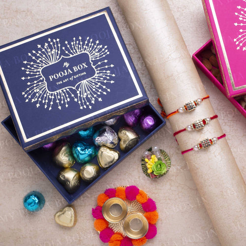 Cute Dice Rakhi Gift Box