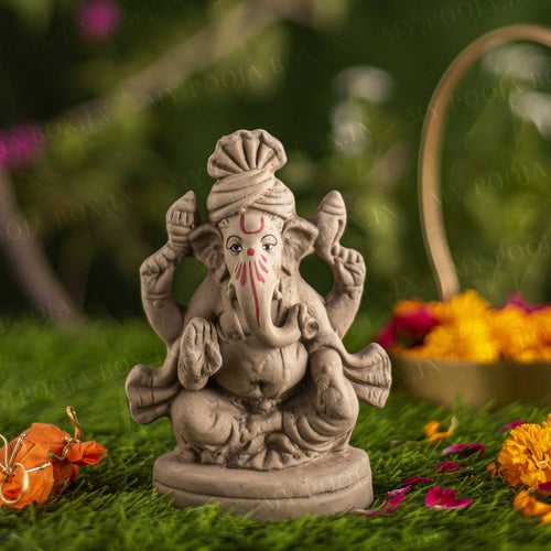 6INCH Manomay Eco-Friendly Ganpati | Plant-A-Ganesha