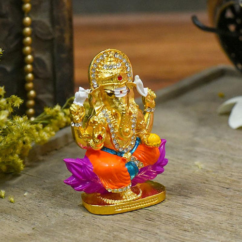 Exquisite Multicolour Ganesha Dashboard Idol