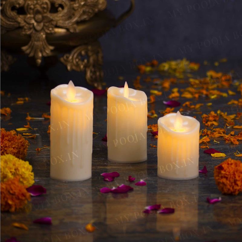 Dripping Wax LED Candles (Set of 3)