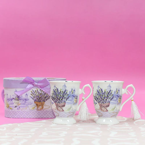 Violet Vintage Tea Cups (Set of 2)