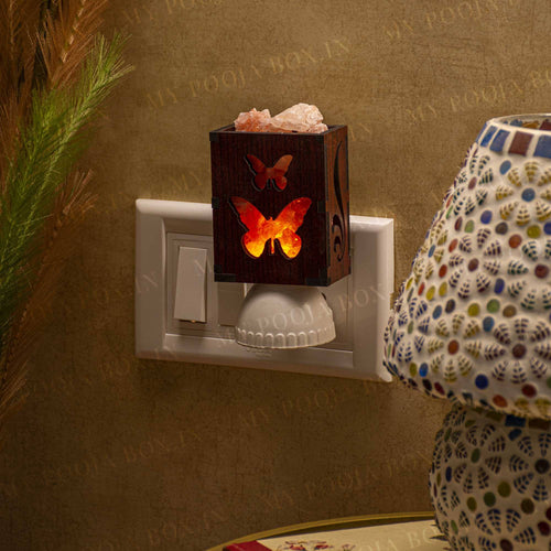 Butterfly Plug-In Himalayan Salt Lamp