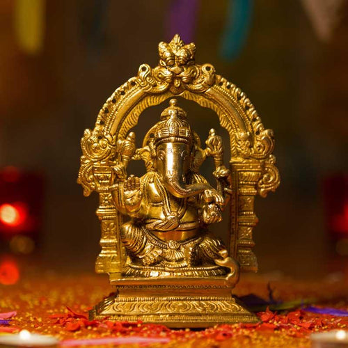 Handcrafted Brass Ganesh Idol