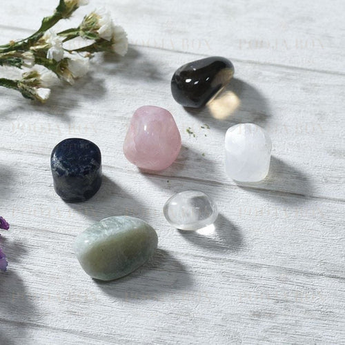 Anger Management Crystal Healing Tumble Stone Set Reiki