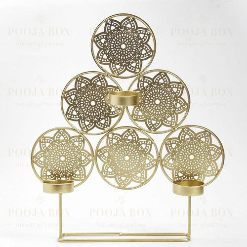 Handcrafted Trikona T-Light Holder Home Decor