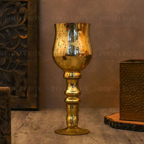 Honey Gold Flower Vase Candle Holder