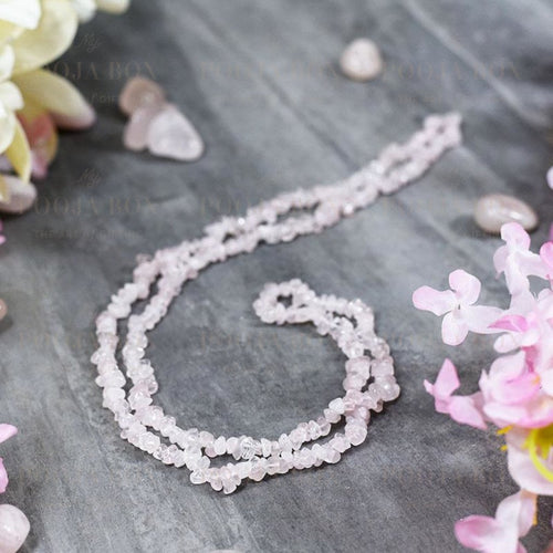 Rose Quartz Crystal Healing Natural Mala | Stone Of Love Reiki