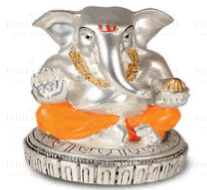 Silver Plated Round Base Idol