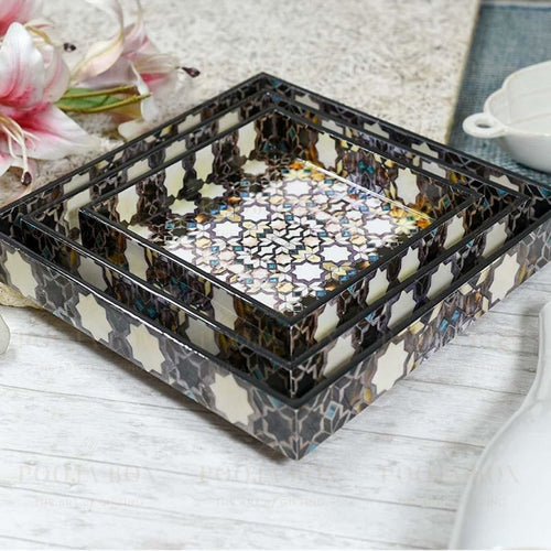 Zaria Multicolor Serving Tray Crockery