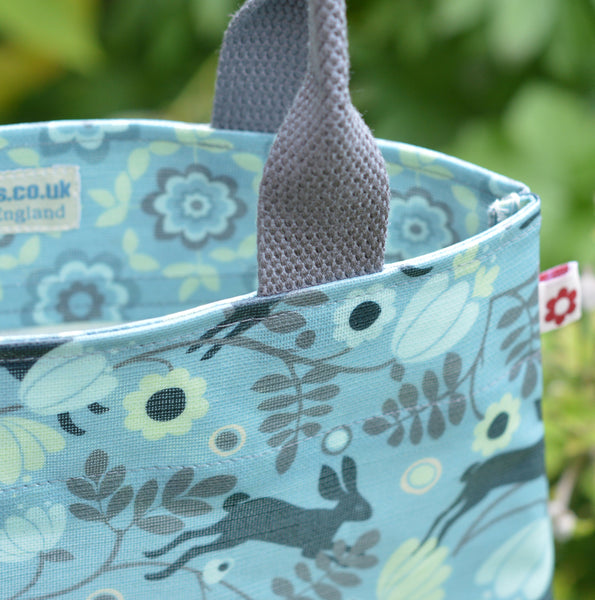 Wild Hare oilclth tote bag by Susie Faulks