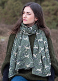 Whippet Green Cotton Scarf