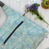 Dragonflies Blue Oilcloth Shoulder Bag