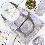 Dragonflies Plum Oilcloth Shoulder Bag