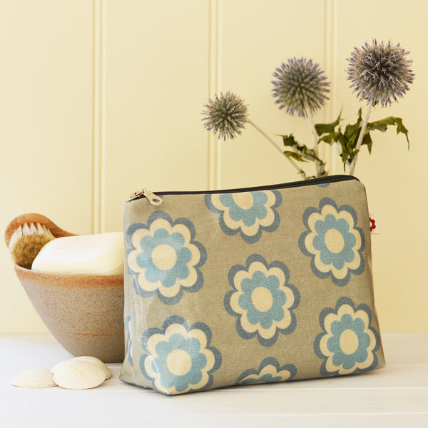 Martha Blue oilcloth washbag by Susie Faulks