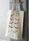 Terriers organic cotton canvas shopping bag
