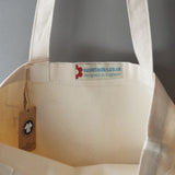 Hounds organic cotton canvas shopping bag