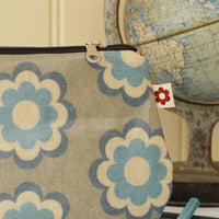 Martha Blue Oilcloth Purse