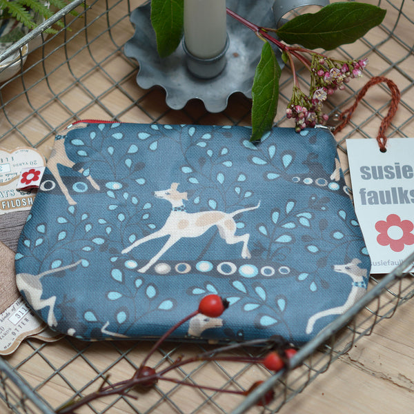 Whippet Small Oilcloth Purse