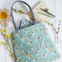Jack Russell Oilcloth Tote Bag