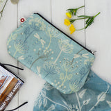 Dragonflies Blue Oilcloth Purse