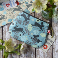 Wild Hare Blue Small Oilcloth Purse