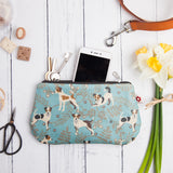 Jack Russell Oilcloth Purse