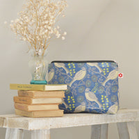Song Thrush oilcloth washbag by Susie Faulks
