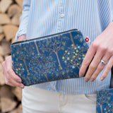 Bloom Denim Oilcloth Purse