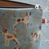 Jack Russell Oilcloth Washbag