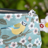 Blue Tit Oilcloth Vegan Purse by Susie Faulks