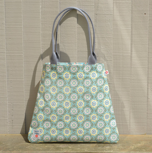 Betty Duck Egg vegan oilcloth tote bag by Susie Faulks