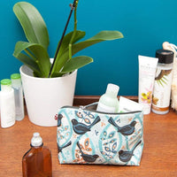 Blackbird oilcloth vegan washbag by Susie Faulks