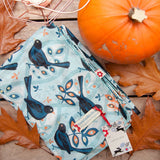 Blackbird design cotton scarf by Susie Faulks