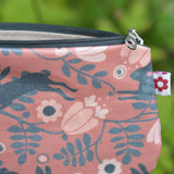 Wild Hare in Pink Oilcloth Purse