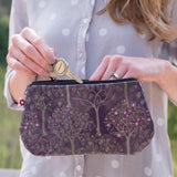Bloom Purple vegan oilcloth purse by Susie Faulks