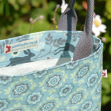 Betty Blue vegan oilcloth tote bag by Susie Faulks