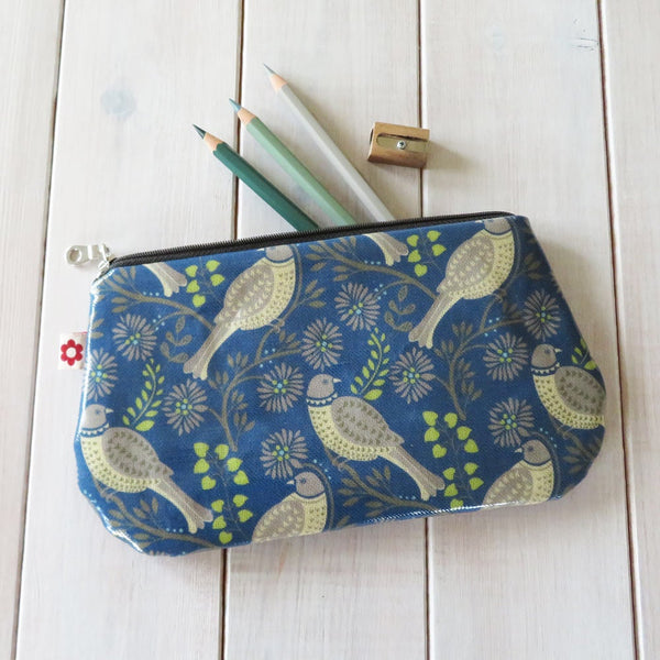 Song Thrush Denim Oilcloth Purse