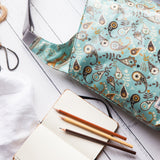 Paisley Blue Oilcloth Cross-Body Bag