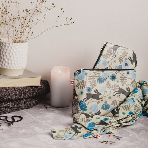 Wild Hare Cream Oilcloth Washbag