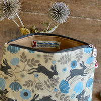 Wild Hare in Cream Medium Washbag