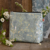 Dragonflies Blue Medium Wash Bag by Susie Faulks/Oilcloth Bags/travel bag/ Make Up Purse/cosmetics purse/ blue bag/susie faulks/ dragonfly