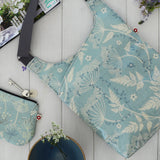 Cow Parsley Blue Cross-Body Oilcloth Bag