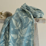 Cow Parsley Blue cotton scarf