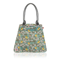 Blue Tit oilcloth vegan tote bag by Susie Faulks